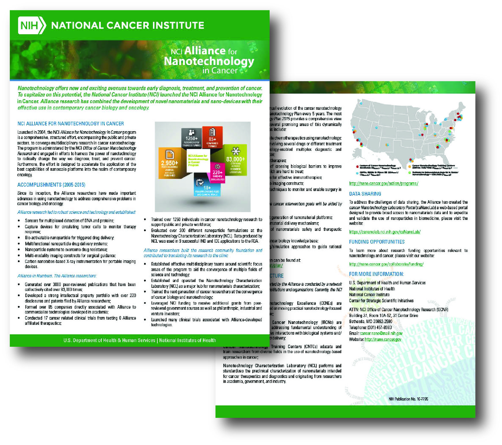 Factsheet - NCI Alliance for Nanotechnology in Cancer Fact Sheet